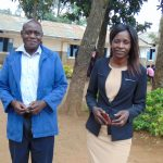 The Water Project: Kapkoi Primary School -  Head Teacher Mrs Shira Aidah And Mr Wilfed Jideyi