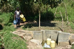 The Water Project:  Indangasi Spring Still Busy As Ever