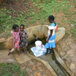 The Water Project: Mungakha Community, Nyanje Spring -  A Year Later Clean Safe Water Still Flowing