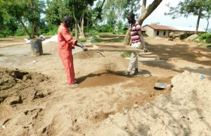 The Water Project:  Sifting Sand For Construction