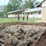The Water Project: Ematiha Secondary School -  Rain Tank Construction Site