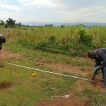 The Water Project: Mukangu Primary School -  Taking Measurements