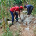 The Water Project: Hirumbi Community, Khalembi Spring -  Mixing Cement