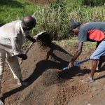 The Water Project: Bungaya Community, Charles Khainga Spring -  Cement Work