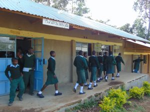 The Water Project:  Students Leaving The Classrooms