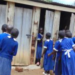 The Water Project: Mutiva Primary School -  Girls Using Latrines