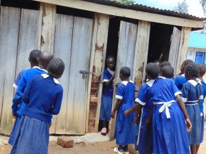 The Water Project:  Girls Using Latrines