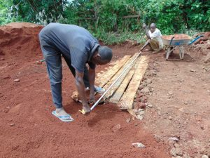The Water Project:  Measuring Latrine Area