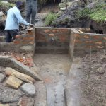 The Water Project: Bungaya Community, Charles Khainga Spring -  Ongoing Wall Construction