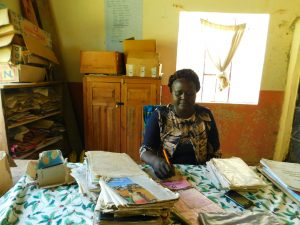 The Water Project:  Head Teacher Mrs Grace Simwa At Work