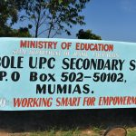 The Water Project: Ebubole UPC Secondary School -  School Sign