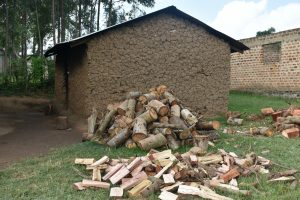 The Water Project:  Kitchen With Firewood Outside