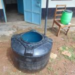 The Water Project: Friends Mixed Secondary School Lwombei -  Water Storage And Handwashing Station On Chair