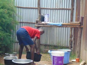 The Water Project:  Students Washing Dishes At The Dishrack