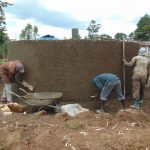 The Water Project: Mukangu Primary School -  Cement Work Continues