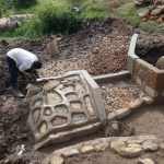 The Water Project: Bungaya Community, Charles Khainga Spring -  Rub Wall Plaster