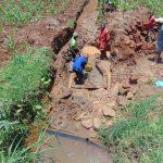 The Water Project: Shamakhokho Community, Imbai Spring -  Brickwork From Above