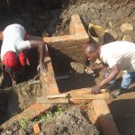 The Water Project: Emmachembe Community, Magina Spring -  Plastering The Walls