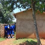 The Water Project: St. Teresa's Isanjiro Girls Secondary School -  Students Lined Up Outside Latrines