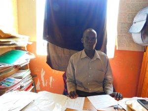 The Water Project:  Deputy Head Teacher Mr Zadock Mausi Ochieng