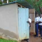 The Water Project: Friends Secondary School Shirugu -  Boys Line Up At The Latrines