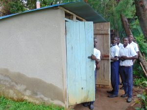 The Water Project:  Boys Line Up At The Latrines