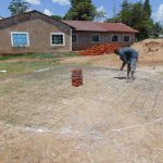 The Water Project: Mukangu Primary School -  Preparing The Dome Wire Form
