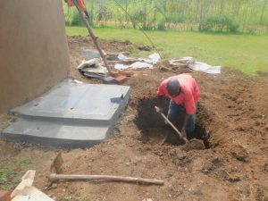 The Water Project:  Digging The Drainage System