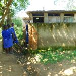 The Water Project: Makale Primary School -  Girls Line Up To Use Latrines
