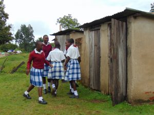 The Water Project:  Girls Heading To The Latrines