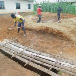 The Water Project: Elufafwa Community School -  Latrine Pit With Lumber Over It