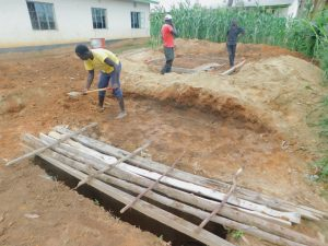 The Water Project:  Latrine Pit With Lumber Over It