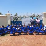 The Water Project: St. Teresa's Isanjiro Girls Secondary School -  Students Pose At The School Gate