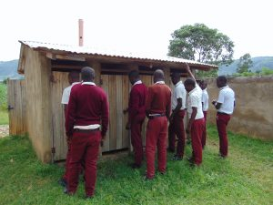 The Water Project:  Boys Queueing At Their Latrines