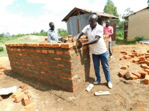 The Water Project:  Latrine Walls Going Up