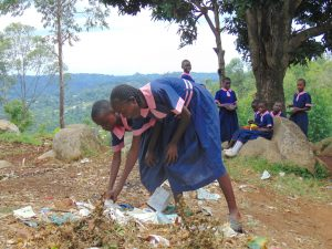 The Water Project:  Students Picking Up Rubbish