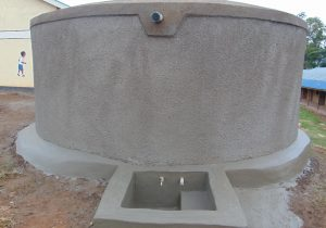 The Water Project:  Fresh Cement Apron And Tap Area