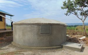 The Water Project:  Dome Cemented On