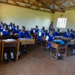 The Water Project: St. Teresa's Isanjiro Girls Secondary School -  Students In Class
