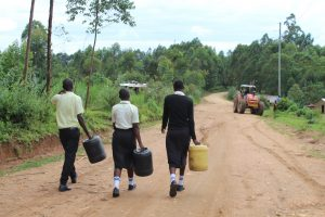 The Water Project:  Students On Way To Collect Water