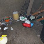 The Water Project: Friends Kuvasali Secondary School -  Dishes Stored In Bowls On Floor Of Kitchen