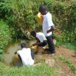 The Water Project: Friends Mixed Secondary School Lwombei -  Students Collecting Water