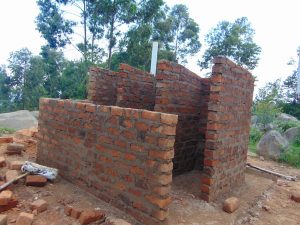 The Water Project:  Latrine Walls Take Shape
