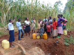 The Water Project:  Training At The Spring Construction Site