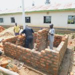 The Water Project: Elufafwa Community School -  Latrine Wall Construction