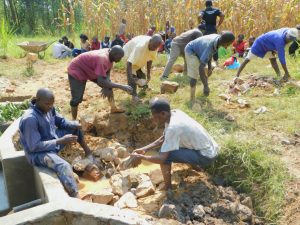 The Water Project:  Backfilling With Great Help From The Community