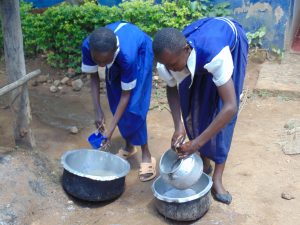 The Water Project:  Students Washing Dishes