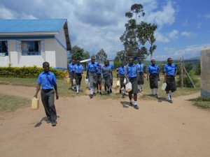 The Water Project:  Students Carrying Jerrycans To Go Fetch Water