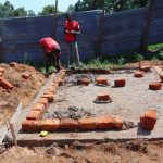 The Water Project: Goibei Primary School -  Brickwork On Latrine Foundation