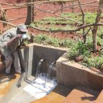 The Water Project: Mushina Community, Shikuku Spring -  Thumbs Up For A Fresh Drink
